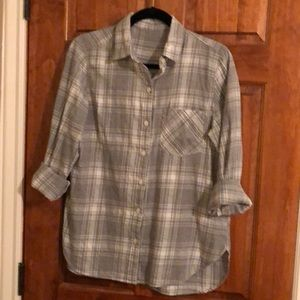 Grey flannel top
